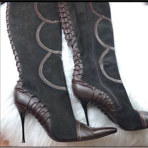 Aldo Chocolate Brown Suede Boots